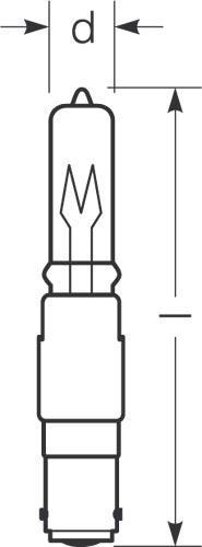 RADIUM Ralogen RJH-T 100W//230//C 100W klar 230V B15d